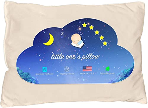 Little One's Pillow - Toddler Pillow, Delicate Organic Cotton, Hand-Crafted in USA